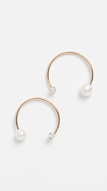 Zoe Chicco 14k Gold Medium Open Circle Earrings