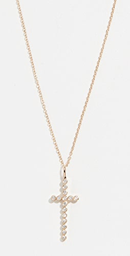 Zoe Chicco - 14k Gold Cross Necklace