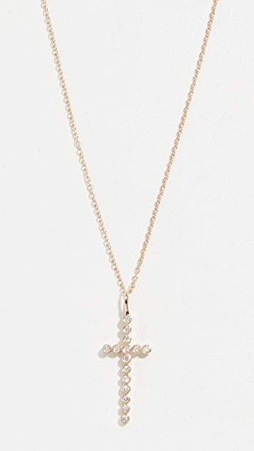 Zoe Chicco 14k Gold Cross Necklace