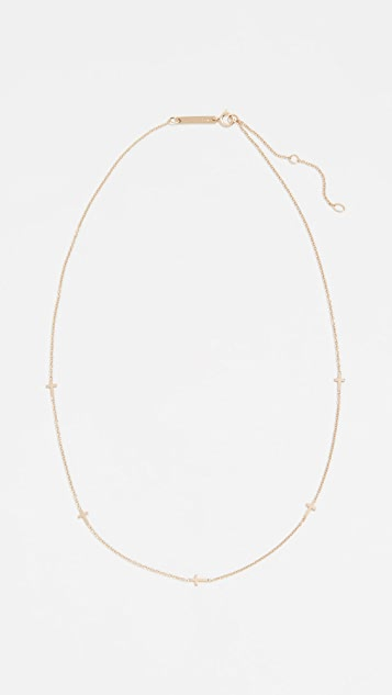 Zoe Chicco 14k Gold Itty Bitty Cross Necklace