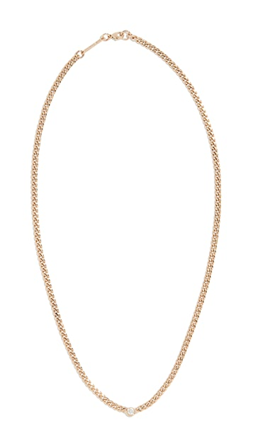 Zoe Chicco 14k Gold Small Curb Chain Necklace