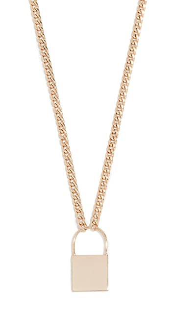 Zoe Chicco 14k Gold Large Padlock Necklace