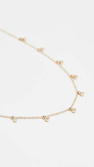Zoe Chicco 14k Bezel Diamond Necklace