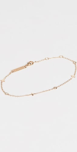 Zoe Chicco - 14k Gold Itty Bitty Crosses Bracelet