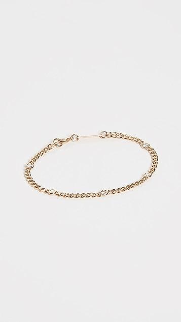 Zoe Chicco Тонкий браслет из цепочки панцирного плетения из 14-каратного золота