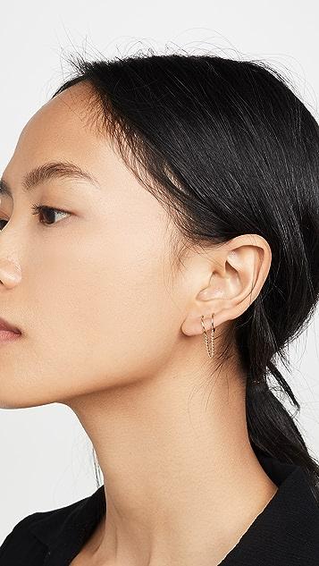 Zoe Chicco 14K 金双贴耳圈式耳环