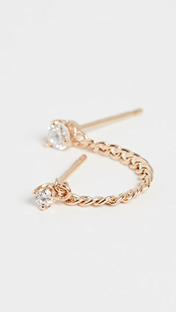 Zoe Chicco 14k Gold Linked Diamond Stud Earring