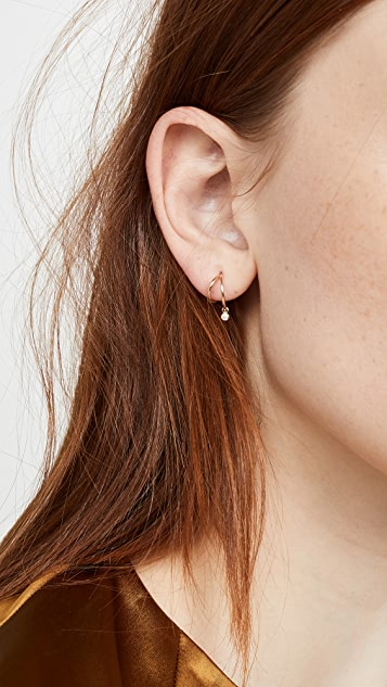 Zoe Chicco 14K 金双绕线圈式耳环