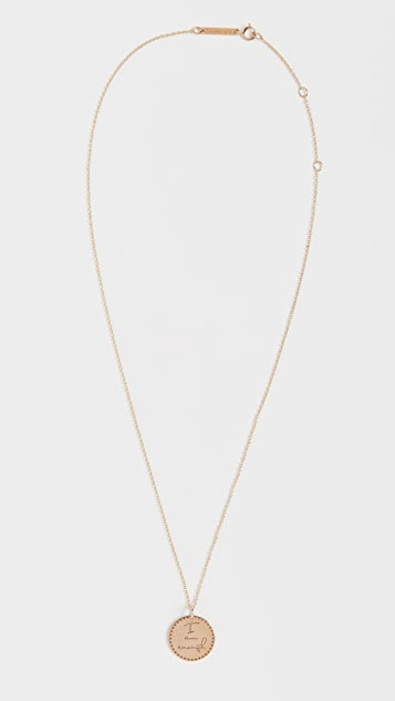 Zoe Chicco 14k Gold Small Mantra Necklace