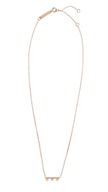 Zoe Chicco 14k Gold Round Wire Bar Necklace