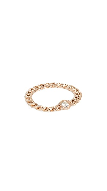 Zoe Chicco 14k Gold Small Curb Chain Ring