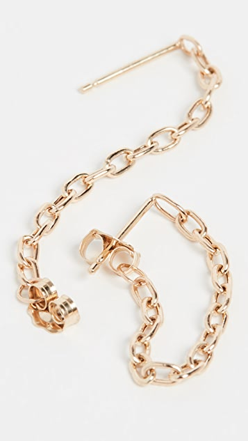 Zoe Chicco 14k Gold Chain Hoops
