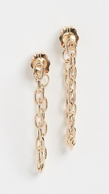 Zoe Chicco 14K 金链条圈式耳环