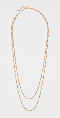 Zoe Chicco - 14k Gold Double Chain Necklace