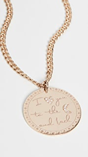 Zoe Chicco 14k Gold Large Mantra Lariat Necklace