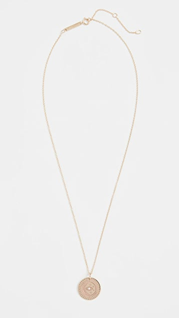 Zoe Chicco 14k Gold Small Celestial Protection Medallion Necklace