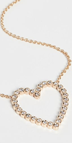 Zoe Chicco - 14k Gold Open Heart Necklace