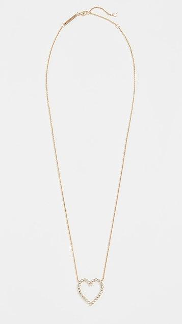 Zoe Chicco Колье из 14-каратного золота с контуром сердца