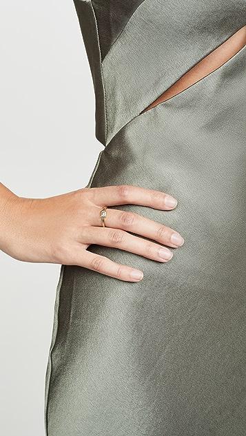 Zoe Chicco 14K 金包镶珐琅切割钻石戒指