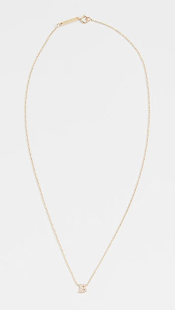 Zoe Chicco Pave Letter Pendant