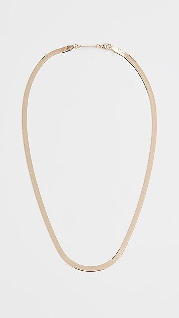 Zoe Chicco 14k Gold Herringbone Chain Necklace