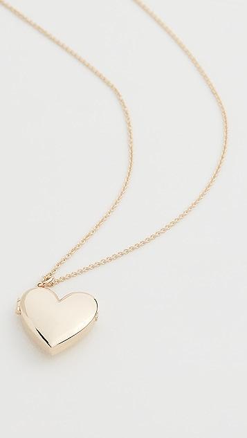 Zoe Chicco Колье с медальоном в виде сердечка из 14-каратного золота