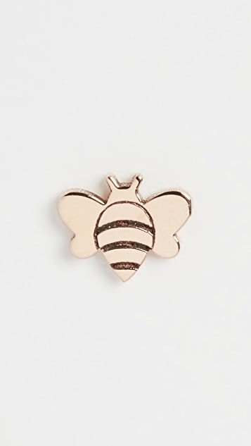 Zoe Chicco 14k Gold Single Itty Bitty Bee Stud