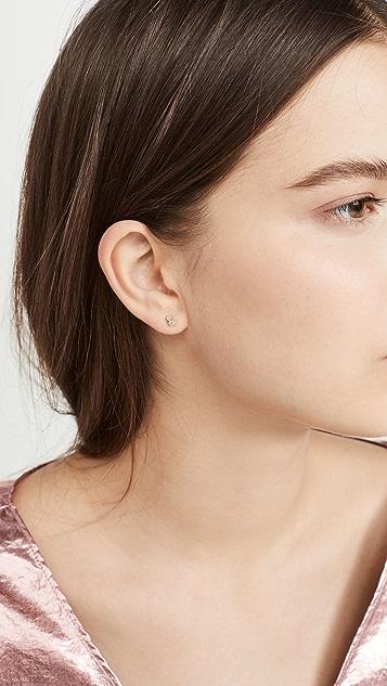Zoe Chicco 14K 金小号 2 混合钻石耳钉