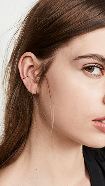 Zoe Chicco 14k Gold Ear Cuff with Small Baguette