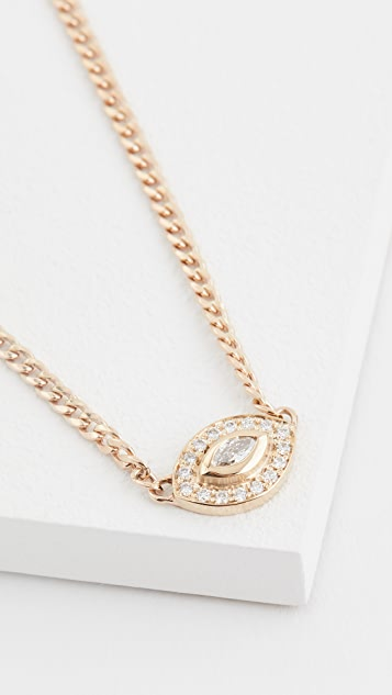 Zoe Chicco 14k Gold Small Halo Necklace