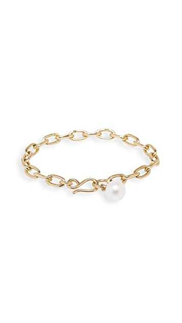 Zoe Chicco 14k White Freshwater Pearl Bracelet
