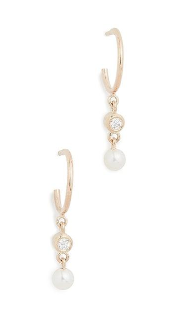 Zoe Chicco 14k Gold Tiny Huggie Hoop Earrings