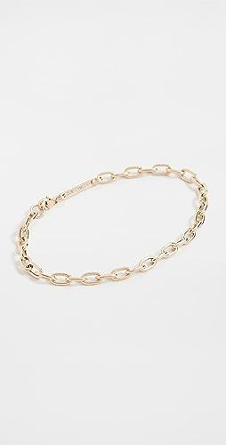 Zoe Chicco - 14k Gold Medium Square Oval Link Chain Bracelet