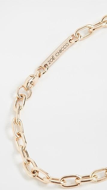 Zoe Chicco 14k Gold Medium Square Oval Link Chain Bracelet