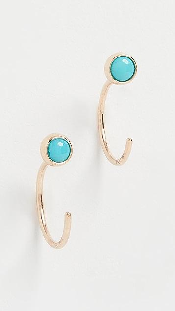 Zoe Chicco 14k Gold Reversible Open Hoop Earrings