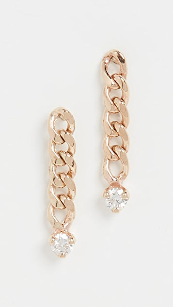 Zoe Chicco 14k Gold Short Small Curb Chain Drop Earrings