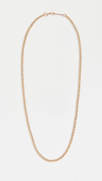 Zoe Chicco 14k Gold Small Hollow Curb Chain Necklace