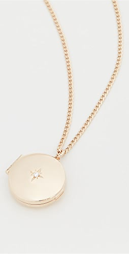 Zoe Chicco - 14k Gold Medium Round Locket Necklace