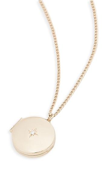 Zoe Chicco 14k Gold Medium Round Locket Necklace