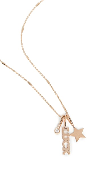 Zoe Chicco 14k Gold Itty Bitty Luck Charm Necklace