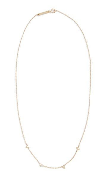Zoe Chicco 14k Gold Tiny Love Necklace