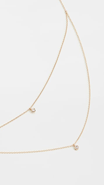 Zoe Chicco 14k Gold Double Layer Chain Necklace