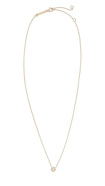 Zoe Chicco 14k Gold Tiny Bead Starburst Necklace
