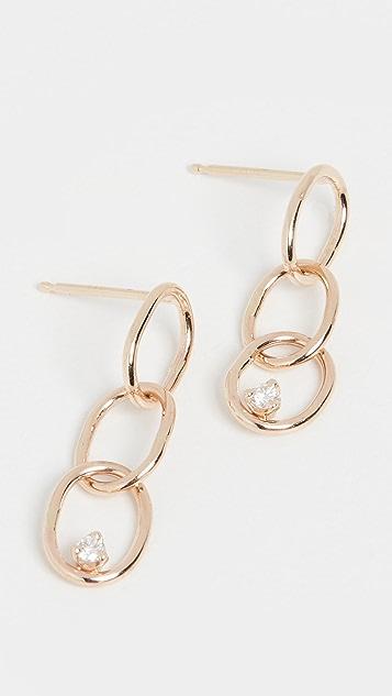 Zoe Chicco 14k Gold 3 Chain Link Stud Earrings