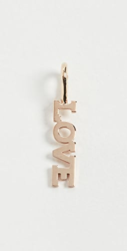 Zoe Chicco - 14k Gold Tiny Capital Letter Love Charm Pendant
