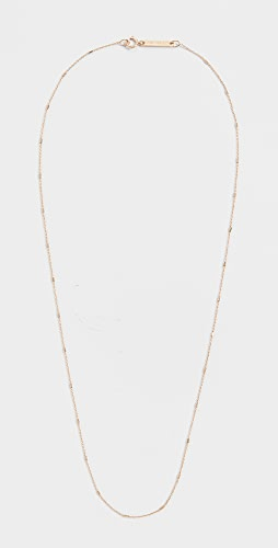 Zoe Chicco - 14k Gold Tiny Cable and Bar Chain