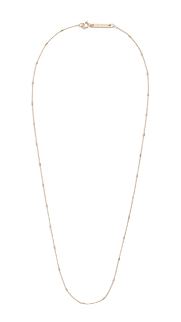 Zoe Chicco 14k Gold Tiny Cable and Bar Chain