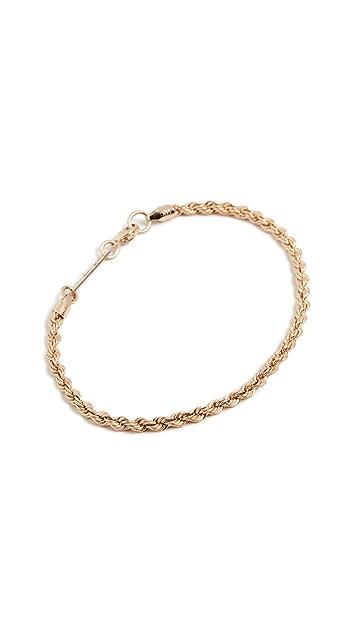 Zoe Chicco 14k Gold Medium Rope Chain Bracelet