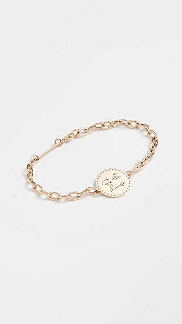 Zoe Chicco 14k Gold Small Mantra Bracelet