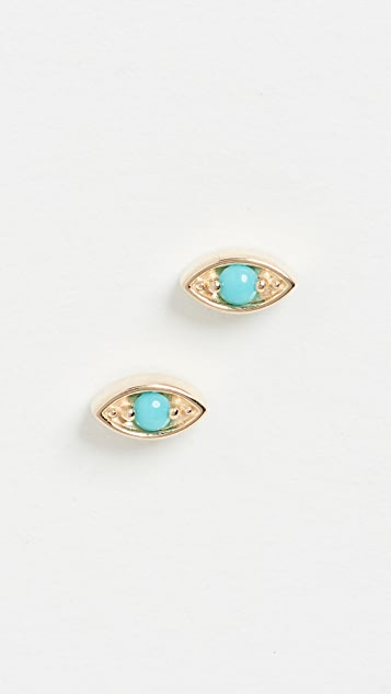 Zoe Chicco 14k Gold Small Marquise Eye Studs